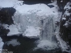 Photo of waterfall by Brittany Ousky.